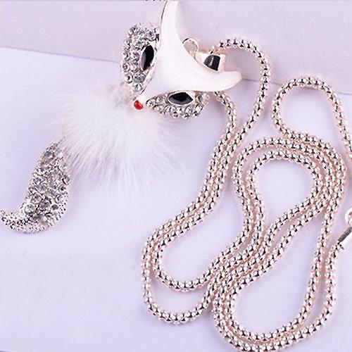 Exklusive Halskette mit Fuchsanhänger  -  Kette  ca. 60 cm
