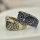 Ring mit Retroeule -  Lieferbar in 2 Farben - altgoldfarben und silberfarben