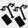 Tolle Ohrringständer Acryl Schwarz - 8 cm x 8 cm