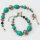 Antikes Tibet Stil Armband mit synthetische Türkise