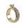 Edle Anhänger in Ringform mit Zirkonia Steine verziert - goldfarben