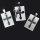 "12x Edelstahlanhänger ""antikes Kreuz""  - 2 teilig ca. 30 x 20 mm"