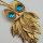 "Retro Halskette goldfarben Motiv ""Eule"" Anhänger ca. 8 x 4 cm"