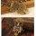 Eulenkette antik mit bunte Strasssteine besetzt