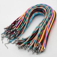 12 x hochwertige Stoff-Halsbänder gemustert ca. 46...