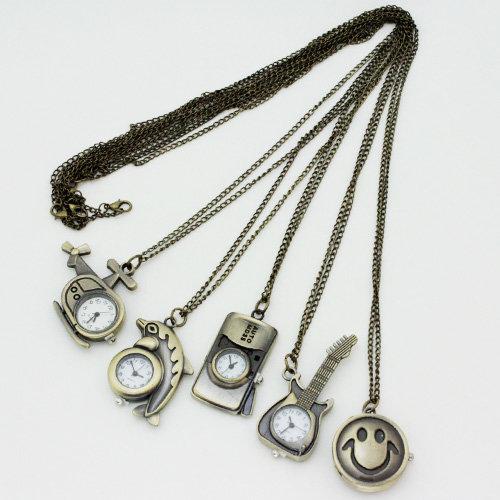 10 x modische Kettenuhren verschiedene Design sortiert