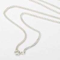 25 x hochwertige versilberte Halsketten ca. 61 cm lang