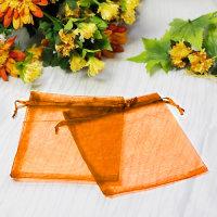 100 x Organza Schmuck Beutel  Orange ca. 17 x 14 cm -...