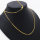 20 x hochwertige vergoldete Halsketten ca. 63 cm lang - Hummer-