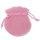 200 x Schmuckbeutel Geschenkbeutel rosa Samt 7,5 x 7,0 cm