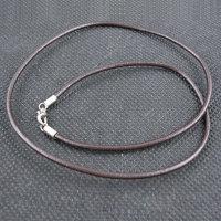 50 x echt Leder Halsbänder mit Karabinerverschluss -...