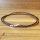 50 x echt Leder Halsbänder mit Karabinerverschluss - Braun - 57 cm lang
