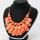 4 x 3 teilige moderne Halskette und Ohrring Schmuckset - Orange