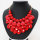 4 x 3 teilige moderne Halskette und Ohrring Schmuckset - Rot