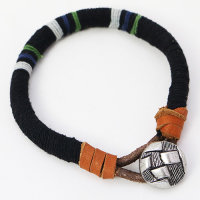 12 x Herren und Damen Armband ca. 22 cm lang - Leder mit Hanfschnur