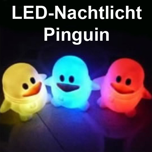 """LED Stimmungslicht Nachtlicht mit Farbwechsel """"Pinguin"""""""