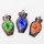 """12 x wunderschöne Glasanhänger Motiv """"Vase"""" mit 3D Blume ca. 48 x 25 x 11 mm"""