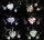 12 x Ketten und Ohrringe-Set aus Glas - 6 Farben sortiert - Sonderpreis